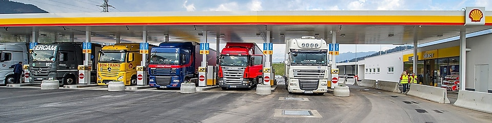 trucks standing beside each other