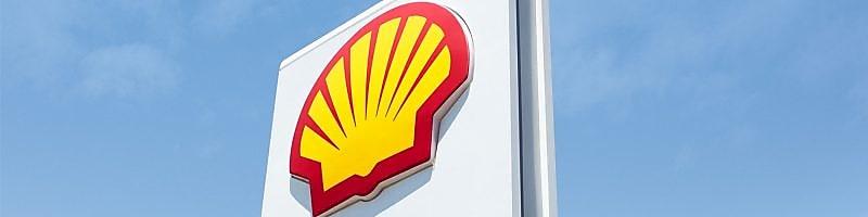 Shell logo na čerpacej stanici