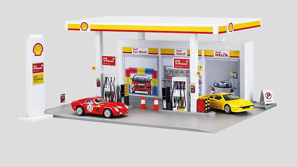 Model čerpacej stanice Shell BTS: Model of petrol station Shell